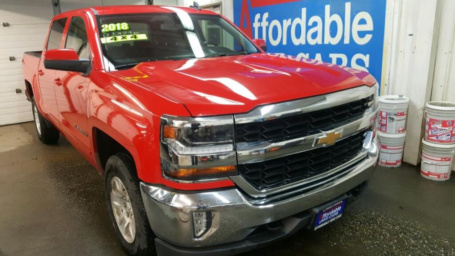 2018 RED CHEVROLET SILVERADO 1500 LT (3GCUKREC6JG) with an 5.3L engine, Automatic transmission, located at 2525 S. Cushman, Fairbanks, AK, 99701, (907) 452-5707, 64.824799, -147.711899 - Photo #0