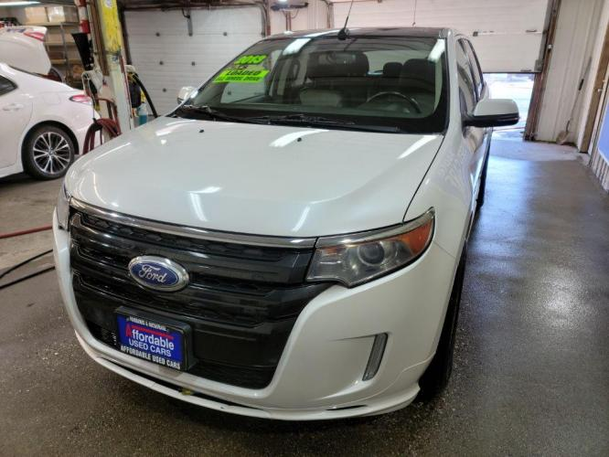 2013 WHITE FORD EDGE SPORT (2FMDK4AK2DB) with an 3.7L engine, Automatic transmission, located at 2525 S. Cushman, Fairbanks, AK, 99701, (907) 452-5707, 64.824799, -147.711899 - Photo #1