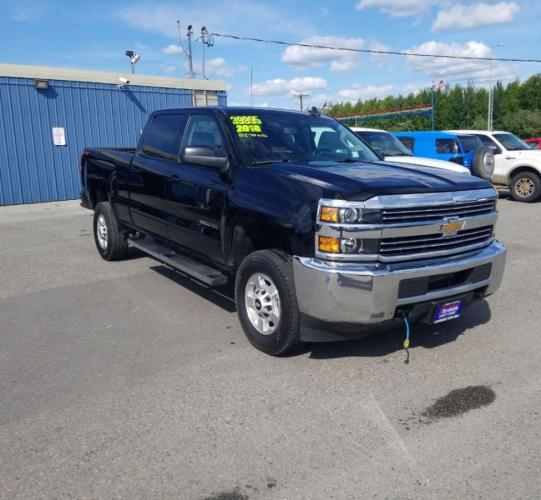 2018 BLACK CHEVROLET SILVERADO 2500 HEAVY DUTY LT (1GC1KVEG8JF) with an 6.0L engine, Automatic transmission, located at 2525 S. Cushman, Fairbanks, AK, 99701, (907) 452-5707, 64.824799, -147.711899 - Photo #0