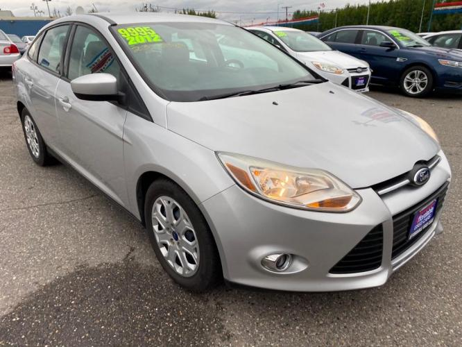 2012 SILVER FORD FOCUS SE (1FAHP3F2XCL) with an 2.0L engine, Automatic transmission, located at 2525 S. Cushman, Fairbanks, AK, 99701, (907) 452-5707, 64.824799, -147.711899 - Photo #0