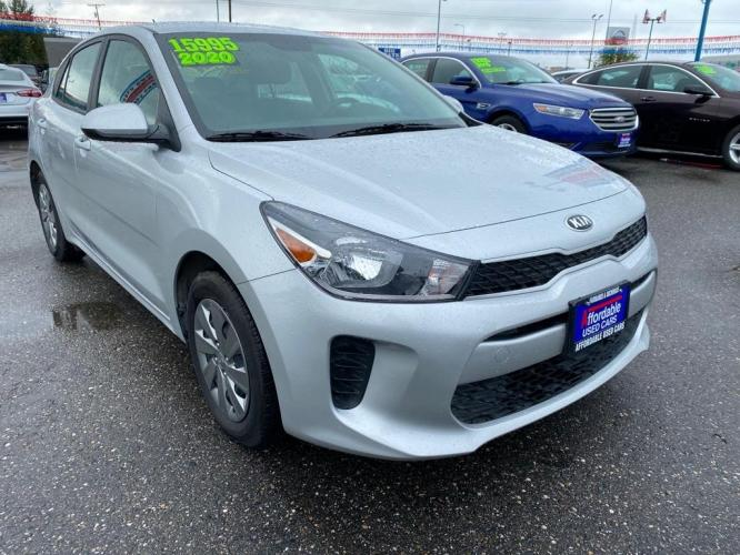 2020 SILVER KIA RIO LX (3KPA24ADXLE) with an 1.6L engine, Automatic transmission, located at 2525 S. Cushman, Fairbanks, AK, 99701, (907) 452-5707, 64.824799, -147.711899 - Photo #0