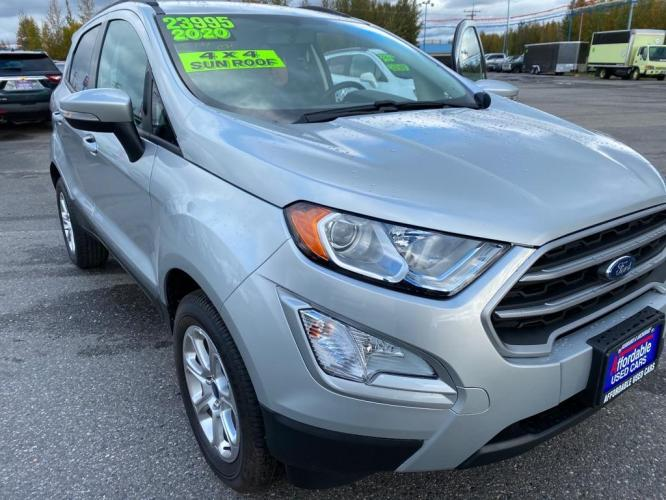 2020 SILVER FORD ECOSPORT SE (MAJ6S3GL3LC) with an 2.0L engine, Automatic transmission, located at 2525 S. Cushman, Fairbanks, AK, 99701, (907) 452-5707, 64.824799, -147.711899 - Photo #0