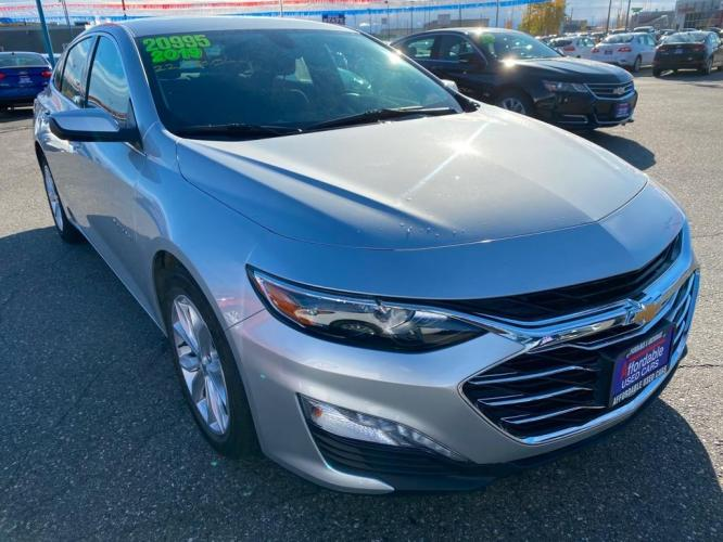 2019 SILVER CHEVROLET MALIBU LT (1G1ZD5ST9KF) with an 1.5L engine, Continuously Variable transmission, located at 2525 S. Cushman, Fairbanks, AK, 99701, (907) 452-5707, 64.824799, -147.711899 - Photo #0