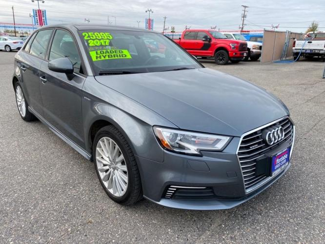 2017 GREY AUDI A3 E-TRON PREMIUM (WAUUPBFF4HA) with an 1.4L engine, Automatic transmission, located at 2525 S. Cushman, Fairbanks, AK, 99701, (907) 452-5707, 64.824799, -147.711899 - Photo #0