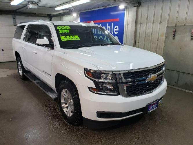 2019 WHITE CHEVROLET SUBURBAN 1500 LS (1GNSKGKC6KR) with an 5.3L engine, Automatic transmission, located at 2525 S. Cushman, Fairbanks, AK, 99701, (907) 452-5707, 64.824799, -147.711899 - Photo #0